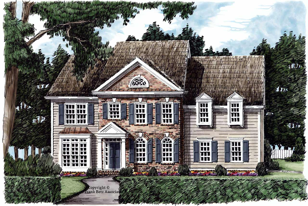 Southern-colonial Style Floor Plans Plan: 85-366