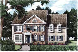 Southern-Colonial Style House Plans Plan: 85-366