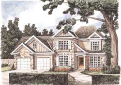 Country Style Floor Plans Plan: 85-367