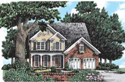Country Style Home Design Plan: 85-374