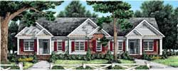Traditional Style Home Design Plan: 85-375