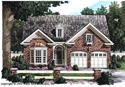 Traditional Style Home Design Plan: 85-378
