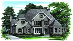 Traditional Style Home Design Plan: 85-391