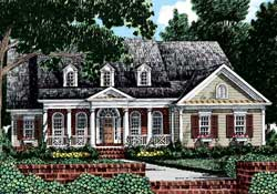 Country Style House Plans Plan: 85-393