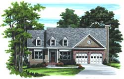 Traditional Style Home Design Plan: 85-399