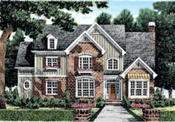 Traditional Style Home Design Plan: 85-400
