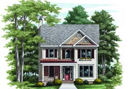 Southern Style Floor Plans Plan: 85-402