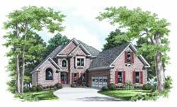 European Style Home Design Plan: 85-403