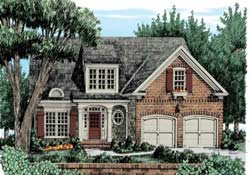 Bungalow Style Home Design Plan: 85-405