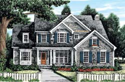 Cottage Style Home Design Plan: 85-406