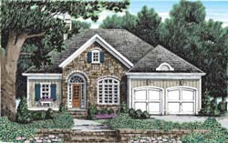 European Style Home Design Plan: 85-407
