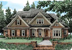 Cottage Style Home Design Plan: 85-408