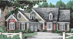 Country Style Home Design Plan: 85-409