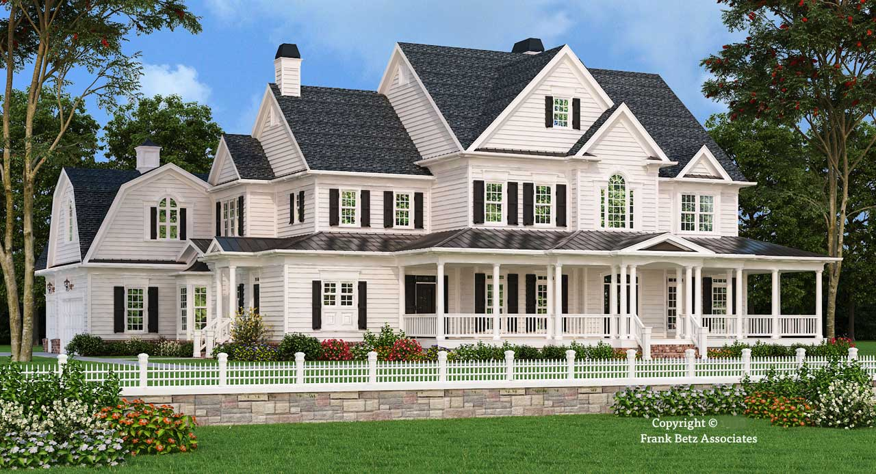 Southern Style Home Design 85-417