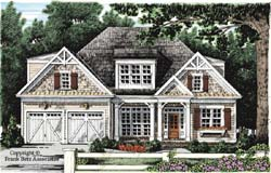 Bungalow Style Home Design Plan: 85-419