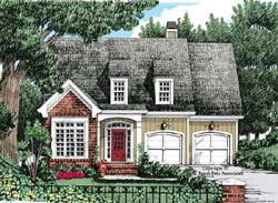 Cottage Style Home Design Plan: 85-420