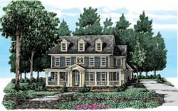 Southern-Colonial Style House Plans Plan: 85-422