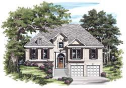European Style Home Design Plan: 85-423
