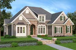 Bungalow Style Floor Plans Plan: 85-424