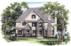 European Style Home Design Plan: 85-428