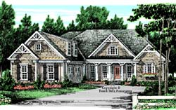 Cottage Style Home Design Plan: 85-434