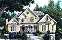 European Style Home Design Plan: 85-438