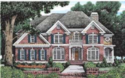Southern Style Home Design Plan: 85-446