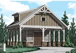 Craftsman Style Home Design Plan: 85-448