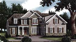 Cottage Style Home Design Plan: 85-451