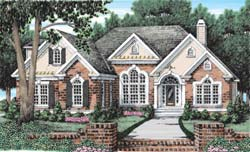 Southern Style Home Design Plan: 85-453