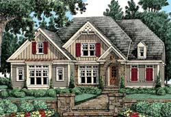 Cottage Style Floor Plans Plan: 85-455