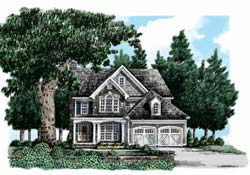 Cottage Style Home Design Plan: 85-463