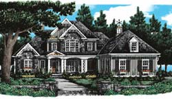 Cottage Style Home Design Plan: 85-465