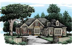 Cottage Style Home Design Plan: 85-487