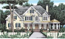 Country Style Home Design Plan: 85-489