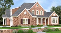Southern Style Home Design Plan: 85-491