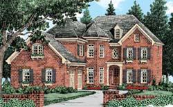 European Style House Plans Plan: 85-496