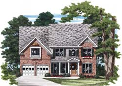 Southern Style Home Design Plan: 85-499