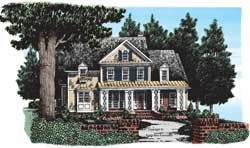 Cottage Style Home Design Plan: 85-505