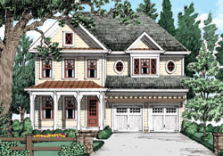 Country Style Floor Plans Plan: 85-517