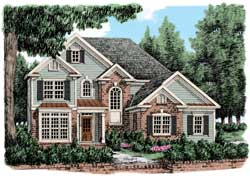 Cottage Style Home Design Plan: 85-528