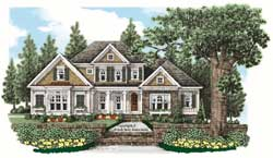 Cottage Style Home Design Plan: 85-531