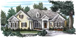 Traditional Style Home Design Plan: 85-534