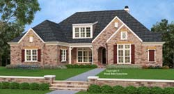 French-Country Style House Plans Plan: 85-546