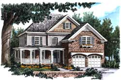 Country Style Floor Plans Plan: 85-548