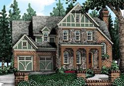 Tudor Style Floor Plans Plan: 85-555