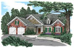 Traditional Style Home Design Plan: 85-560