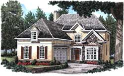 Cottage Style Home Design Plan: 85-581