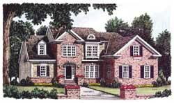 Cape-Cod Style House Plans Plan: 85-610