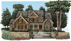 Cottage Style Home Design Plan: 85-634